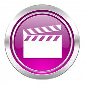 video violet icon cinema sign