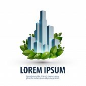 City and nature. logo, icon, emblem, template, business