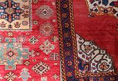 Two Carpets Decorated In An Islamic House