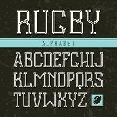 Serif Font Medium In The Sport Style