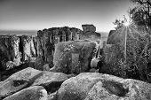 Valley Of Desolation In Camdeboo National Park Near Graaff-reinet Landscape With Rocks Sunset Artist