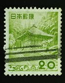 Japan - Circa 1954: Postal Stamp Printed In Japan Shows An Image Of An Old Japanese House Graphics I