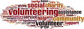 Volunteering Word Cloud