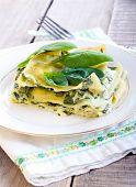 Creamy Spinach Lasagna