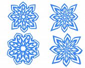 Snowflakes Isolated On The White Background