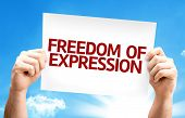 Freedom of Expression card with a beautiful day