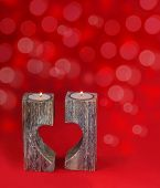 Romantic Candle Holder In The Shape Of Heart For Valentine's Day