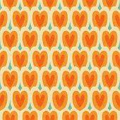 Vintage Japan Stylehearts Seamless Pattern