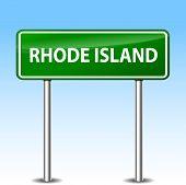 Rhode Island Green Sign