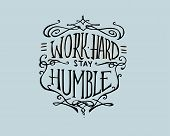 stock photo of humble  - Hand drawn vector illustration or drawing of a retro badge that has the phrase - JPG