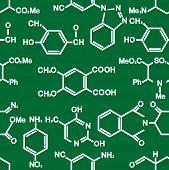 Chemistry seamless background pattern