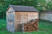 Small Wooden Shed In Park