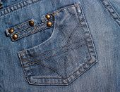 Jeans Pockets. Textured