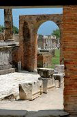 Arches & Columns In Pompeii, Italy