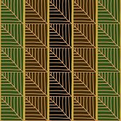 Traditional African Ornamental Pattern. Stylized Seamless texture with waves.