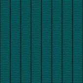 Based on Traditional African Ornament. Stylized Seamless texture with waves. Deep Green Pattern for