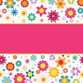 Beautiful vector background with colorful flowers