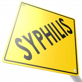 stock photo of syphilis  - Road sign with syphilis image with hi - JPG