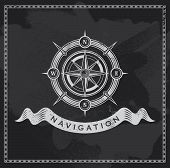 picture of compass rose  - Vintage nautical compass - JPG