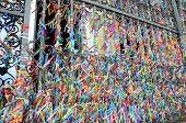 pic of carnival brazil  - Bonfim ribbons at the entrance to Igreja Nossa Senhora do Rosario dos Pretos in Salvador do Bahia, Brazil ** Note: Shallow depth of field - JPG