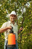 Working Man With Garden Spray