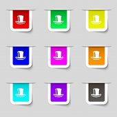 picture of cylinder  - cylinder hat icon sign - JPG