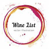 Постер, плакат: Wine stain circles
