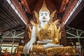 picture of yangon  - Buddha sculpture in Ngahtatgyi Paya Yangon Myanmar - JPG