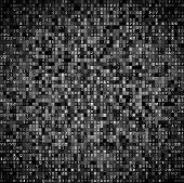foto of encoding  - Random symbols blocks encoded data screen - JPG