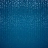 picture of binary code  - Gradient fall off binary code screen listing table cypher - JPG