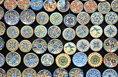 foto of pottery  - close up of typical colorful sicilian pottery  - JPG