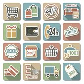 image of gift basket  - Shopping Flat Icons - JPG