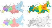 image of political map  - Political and regional map of Russia - JPG
