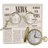 picture of newspaper  - Retro Newspaper Concept with eyeglasses - JPG