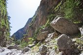 picture of samaria  - Giant stones within the gorge of Samaria - JPG