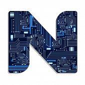 stock photo of letter n  - Letter  - JPG