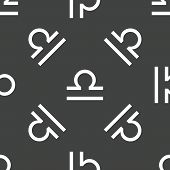 pic of libra  - Zodiac Libra symbol repeated on grey background - JPG