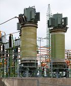 stock photo of substation  - Part of high - JPG