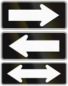 pic of traffic rules  - Chilean traffic signs indication one way and two way roads - JPG