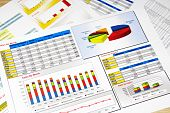 Sales Report In Statistics, Graphs And Charts