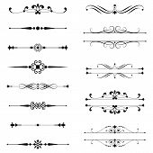 pic of divider  - Set of vector text dividers - JPG