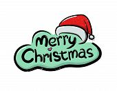 picture of merry christmas text  - Vector illustration of Merry Christmas greetings text - JPG