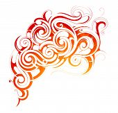 foto of smoke  - Vector illustration with fire flames and smoke ornament - JPG