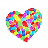 picture of mica  - Vector heart is composed of multi - JPG