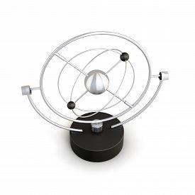 image of pendulum  - Pendulum isolated on white background - JPG