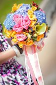 Beautiful Flower Bouquet Holded In Hands