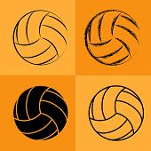 foto of volleyball  - Volleyball Ball Set - JPG
