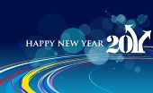 image of new years celebration  - abstract new year 2011 colorful design - JPG