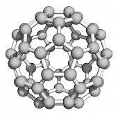 pic of nanotube  - Computer rendering of Buckminsterfullerene a prototype of carbon - JPG