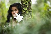 Natural Beauty, Young Woman In Nature
